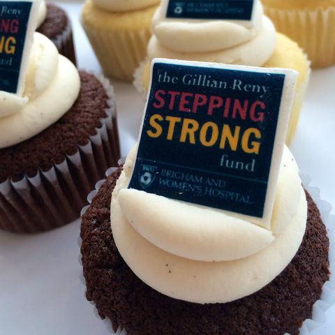 SWEET Charity ♥ Brigham & Women's Hospital Gillian Reny Stepping Strong Cupcakes! 100% of proceeds benefit this charity.