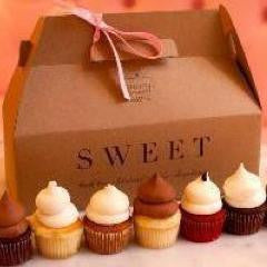 SWEET Miniature Cupcake Tasting Box - 25 Mixed Flavor Minis just $45