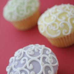 Fabulous Filigree Cupcakes All Pale Yellow  *48 hour advance order required