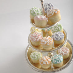 Fabulous MINIATURE Filigree Cupcakes Mixed Pastel Colors *48 hour advance order required