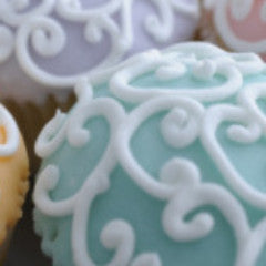 Fabulous Filigree Cupcakes All Teal  *48 hour advance order required