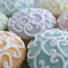 Fabulous Filigree Cupcakes Mixed Pastel Colors  *48 hour advance order required