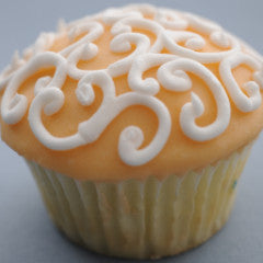 Fabulous Filigree Cupcakes All Pale Orange  *48 hour advance order required