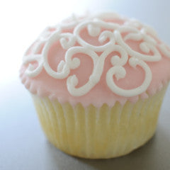 Fabulous Filigree Cupcakes All Pale Pink  *48 hour advance order required
