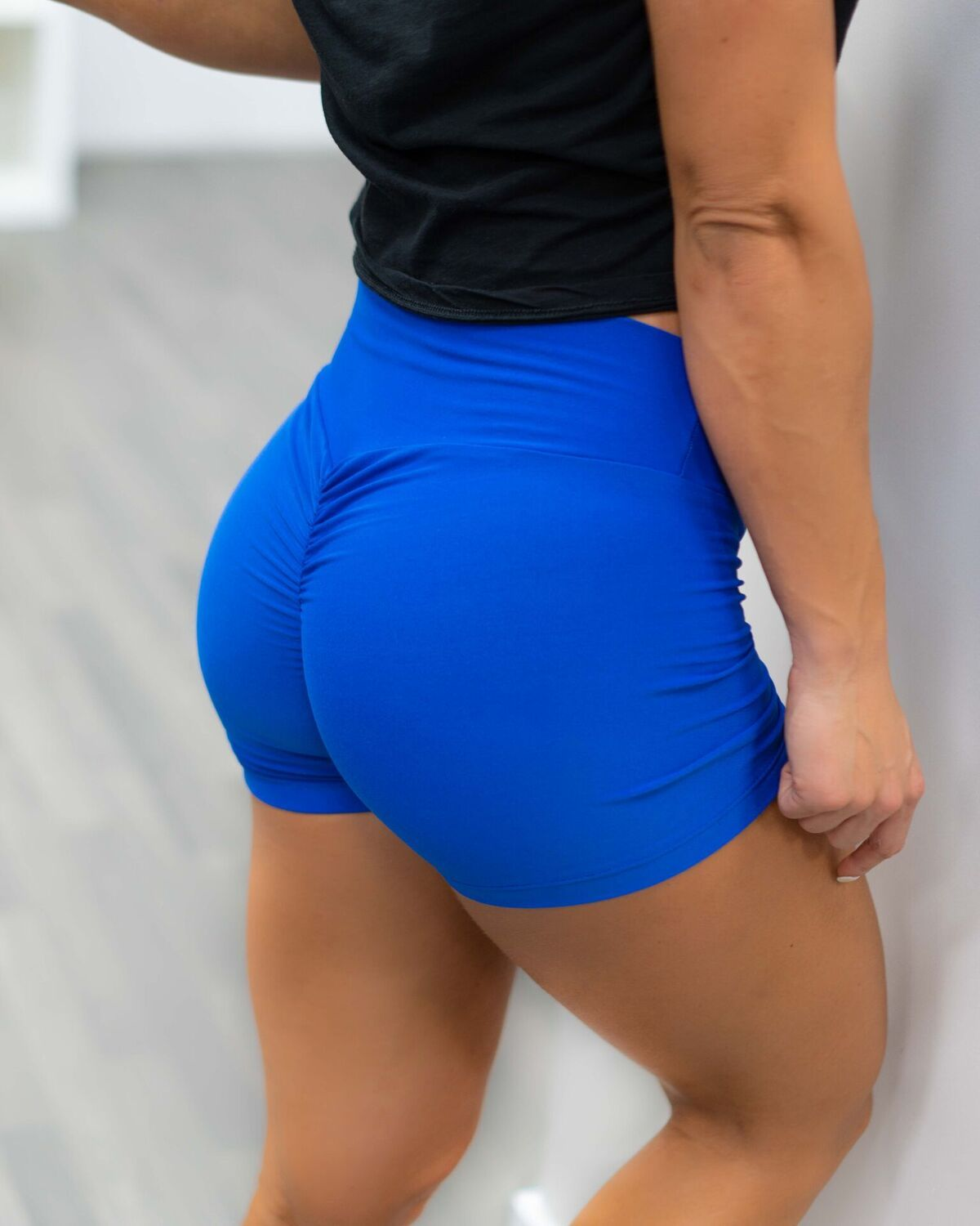 Royal Blue Scrunch Shorts