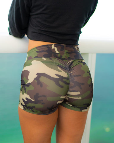 Camo Scrunch Shorts