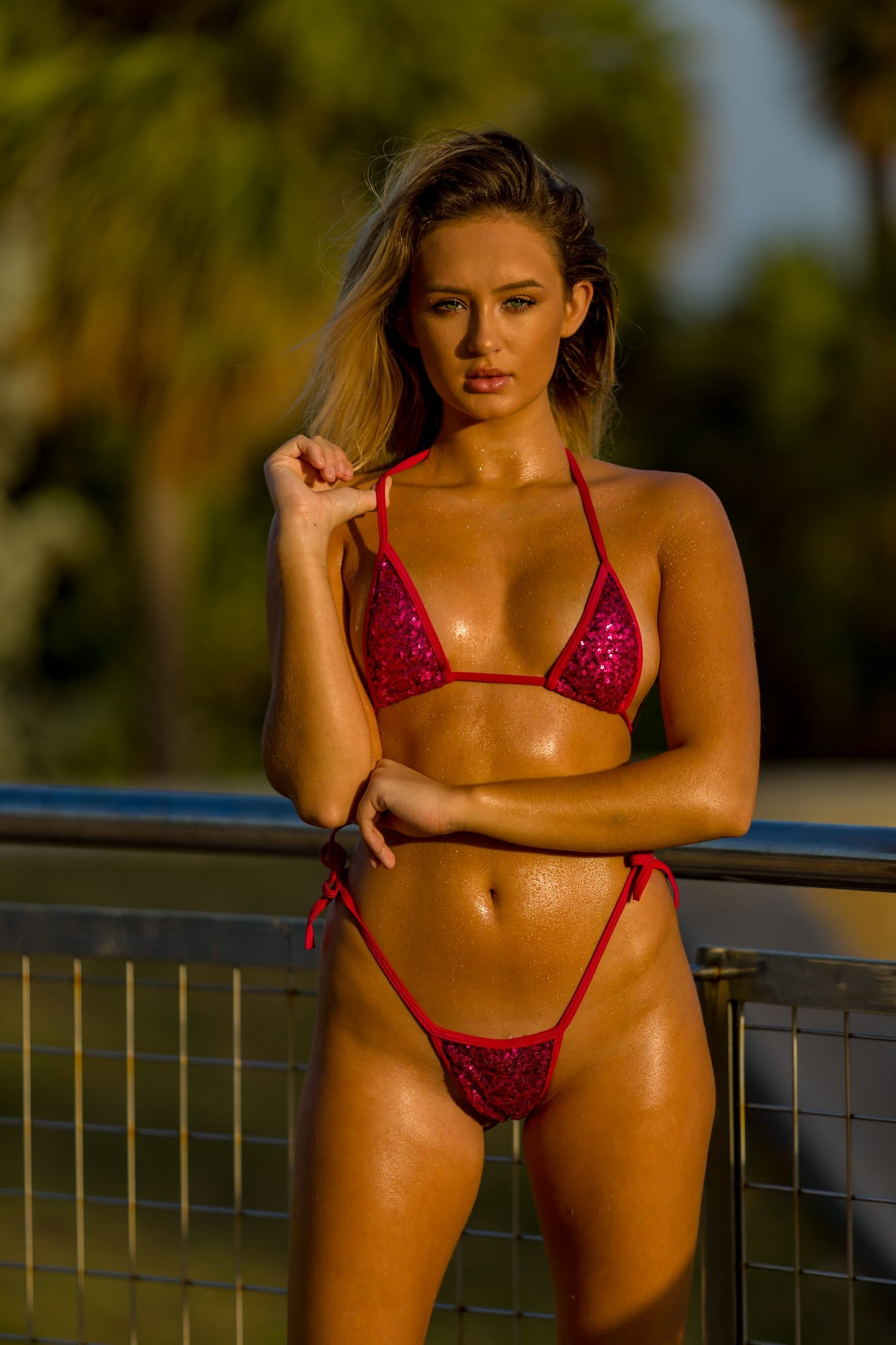 Hot Pink Sequin Bikini