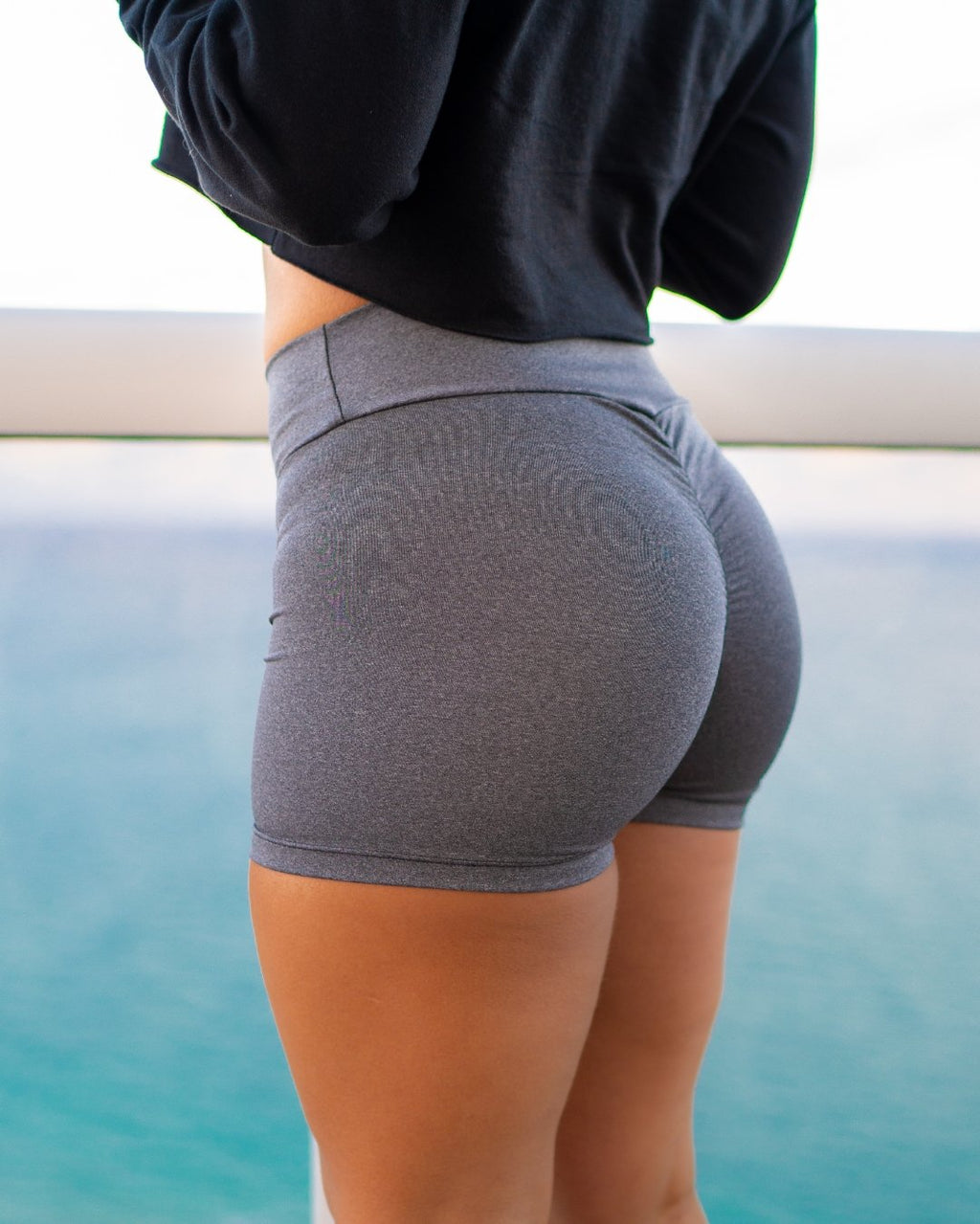 Grey Scrunch Shorts