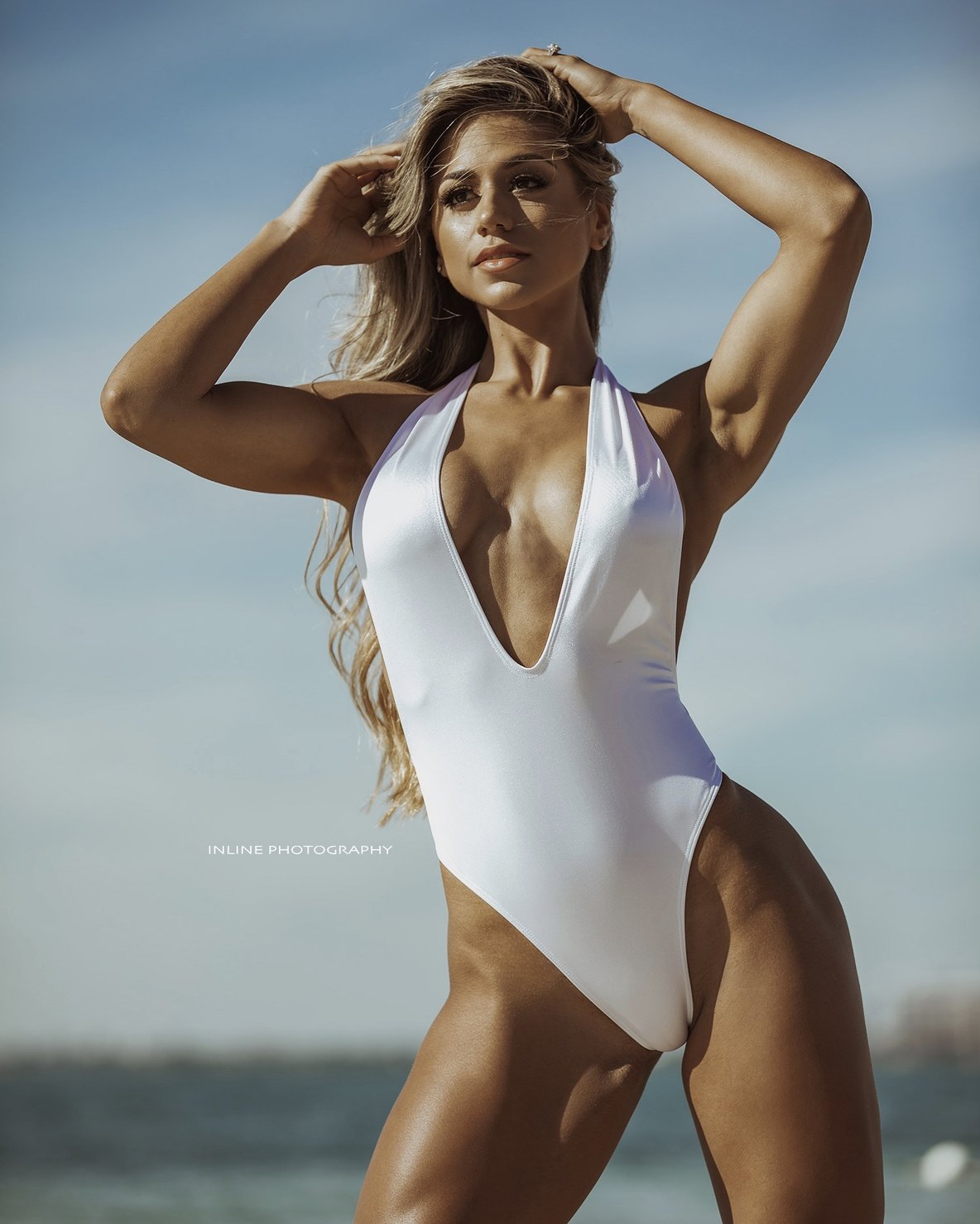 White Halter One Piece
