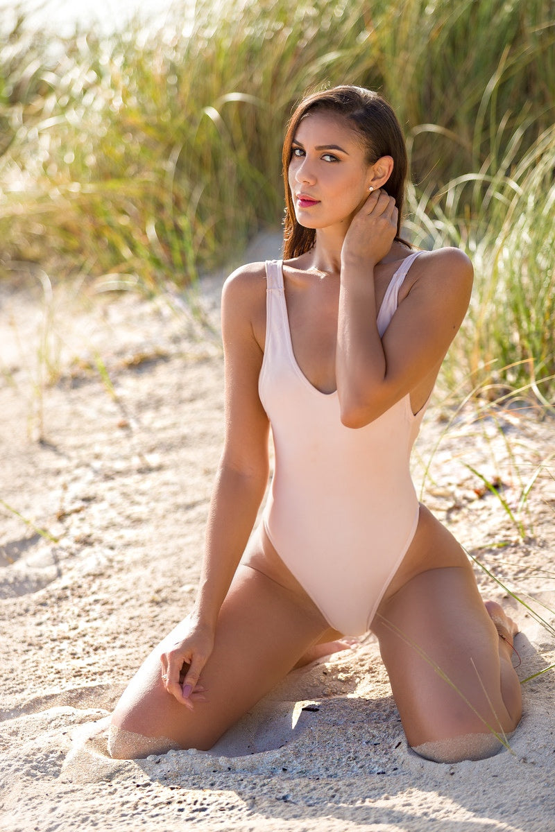 Rose Gold High Cut One Piece
