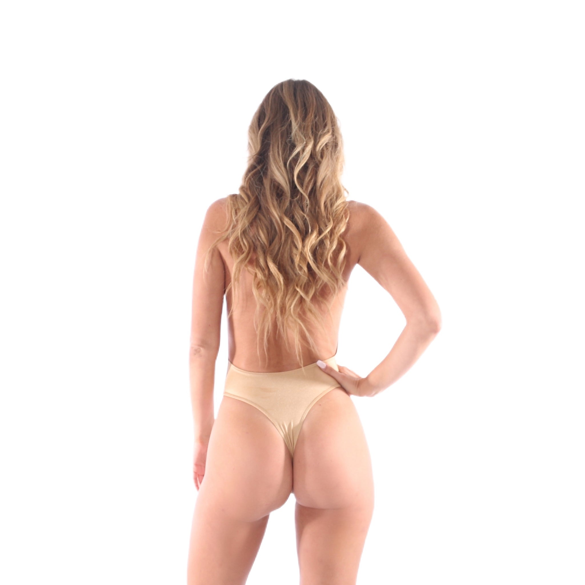 Gold Halter One Piece