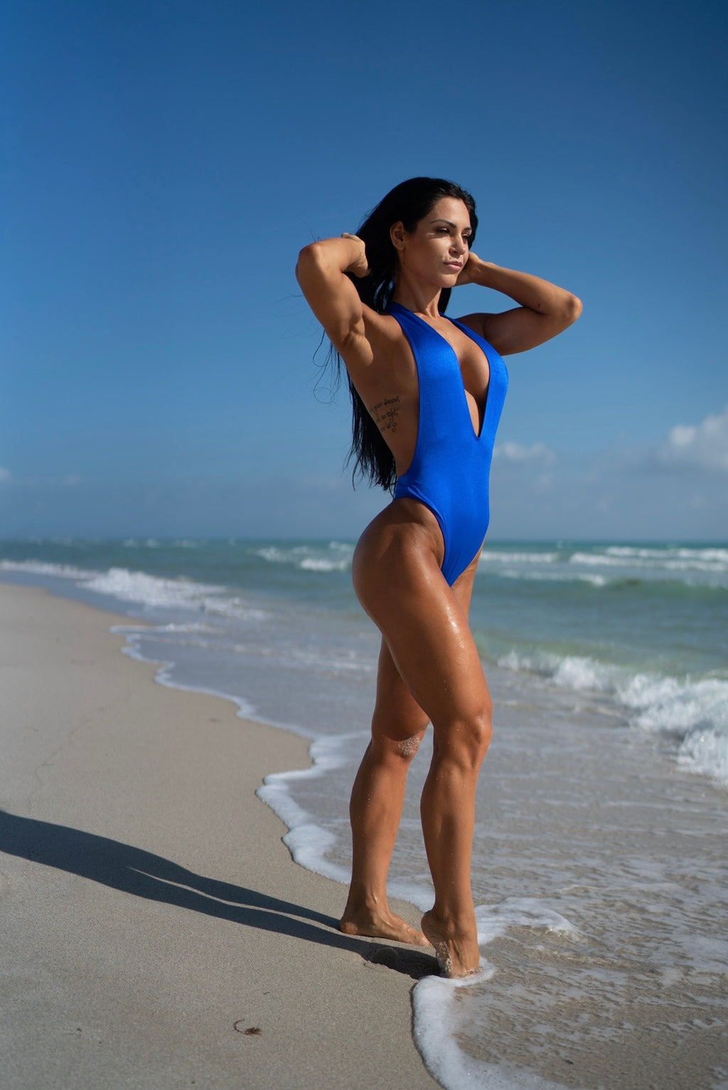 Royal Blue Halter One Piece