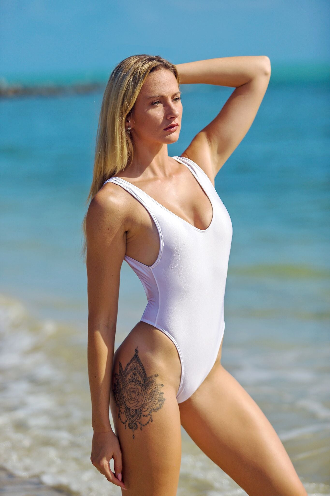 White High Cut One Piece