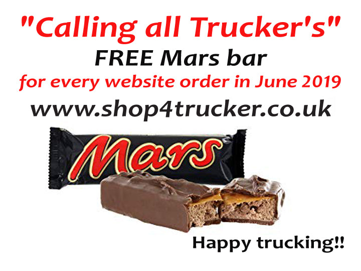 Calling all Truckers.. Free Mars bar for June orders.