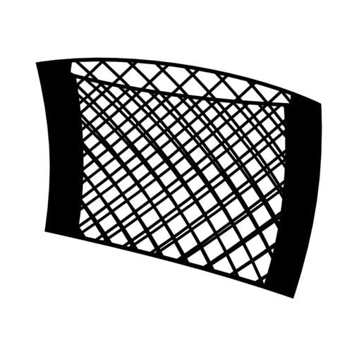 Truck lorry van bus coach interior boot tidy black storage cargo net 40 x 25 cm - Shop4trucker