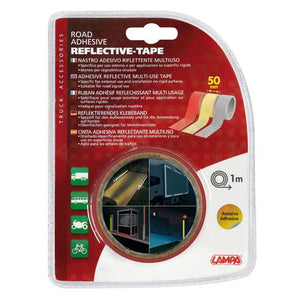 Truck lorry trailer motorcycle motorhome red reflective tape 1m x 50mm - Shop4trucker