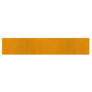 Truck lorry trailer motorcycle motorhome amber yellow reflective tape 1m x 50mm - Shop4trucker