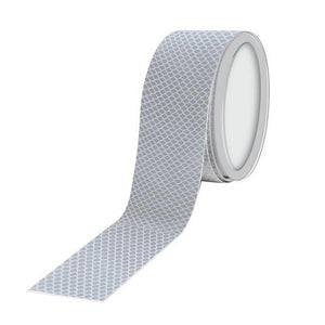 Truck lorry trailer motorcycle motorhome silver reflective tape 1m x 50mm - Shop4trucker