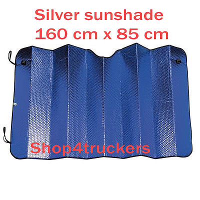 Van motorhome caravan 160 x 85 cm large sunshade silver reflective double sided - Shop4trucker