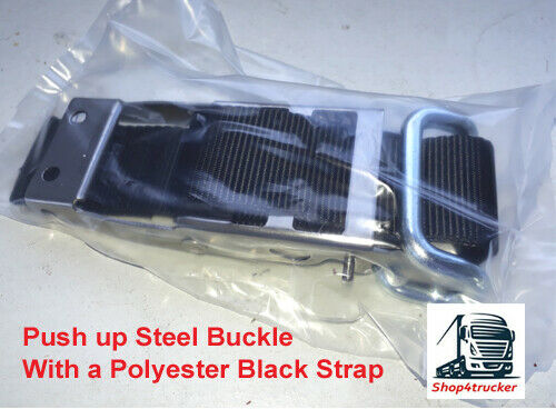 Truck HGV Steel Push Up Buckle Strap Curtainsiders Curtain Sider Trailer black - Shop4trucker