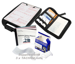 Truck HGV lorry 1 x digital tacho holder organiser 1 x 3 rolls 1 x 50 page defect book 1 x A4 clipboard storage - Shop4trucker