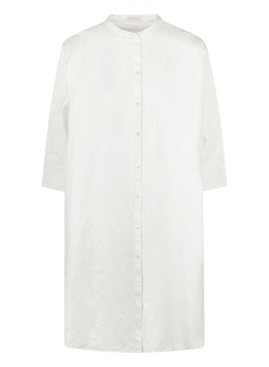 Linen oversized shirt dress