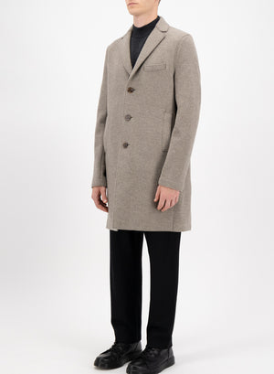 Boxy coat boiled wool
