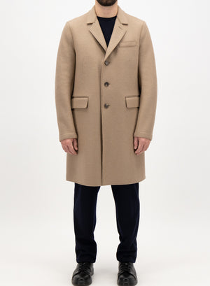 New chester coat pressed wool