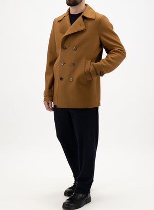 Peacoat boiled wool and polaire