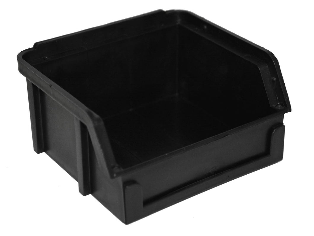PB10-XXL | 4X4X2 ESD PlastiBox Container with Molded-In Divider | Pack of 24