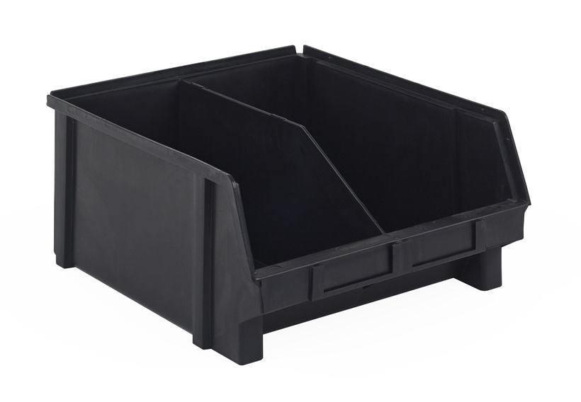 PB41-XXL | 13x11x6 ESD PlastiBox Container with Molded-In Divider | Pack of 12