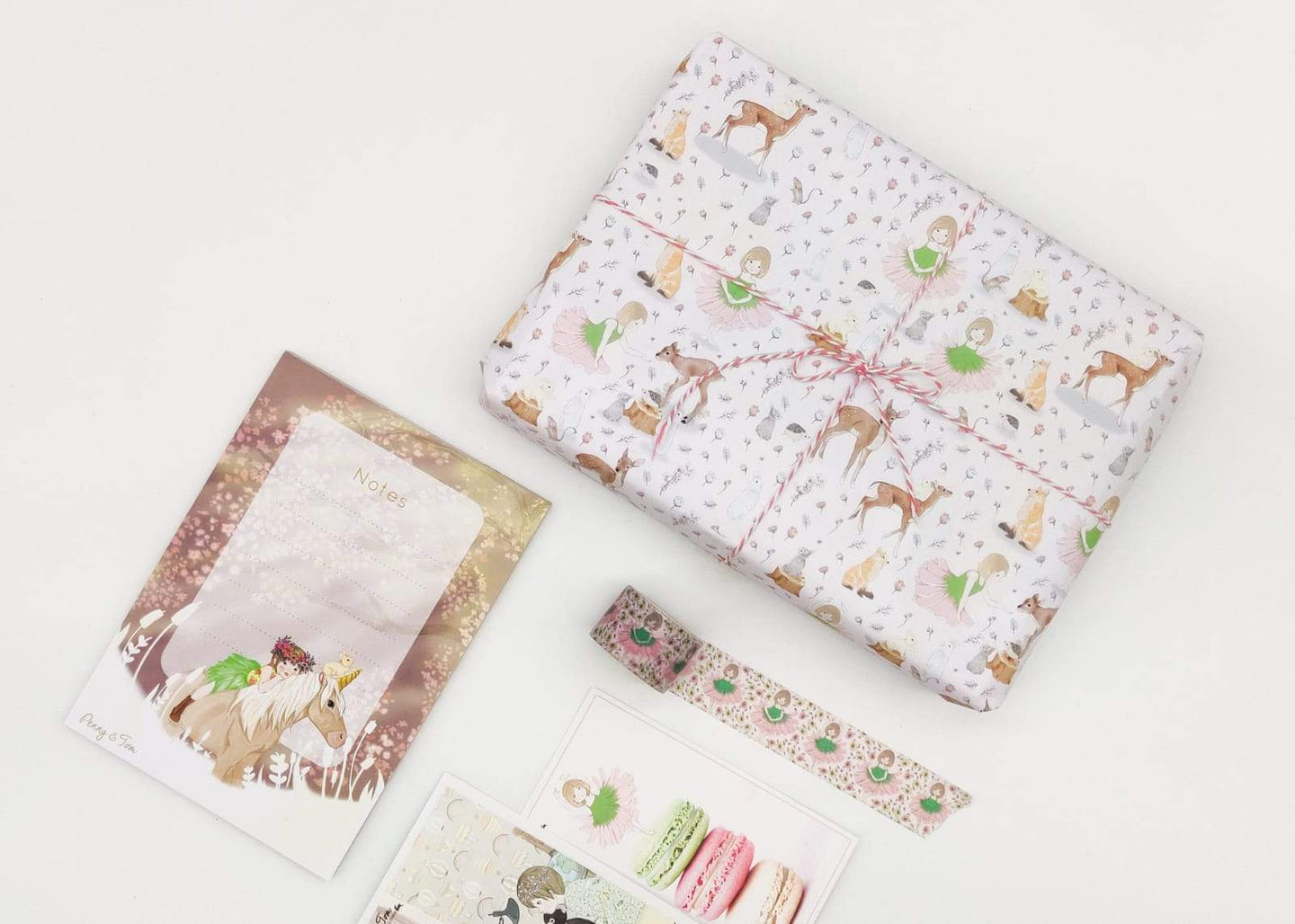 washi tape, wrapping paper, sandwich wrapping paper, notepad