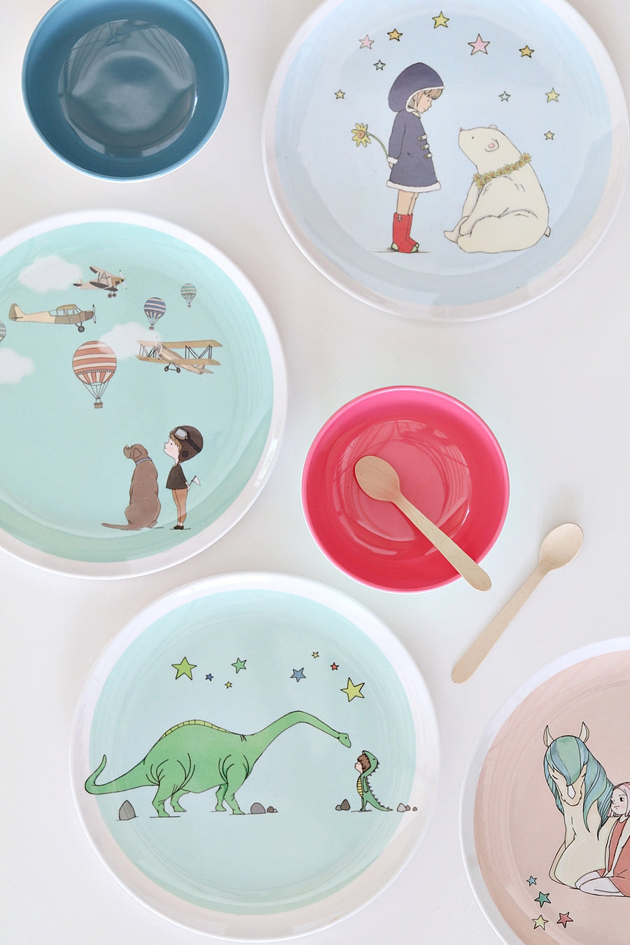 Illustrated Dinner Set - set of 6