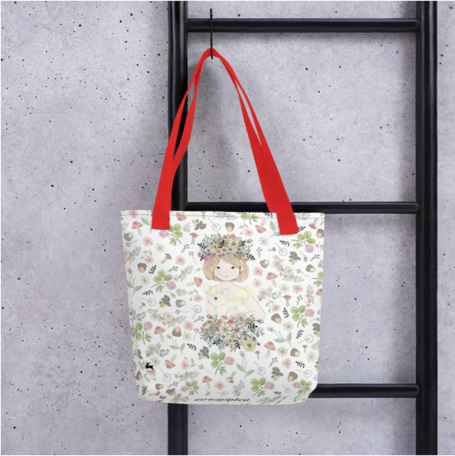 Tote bag - Penny in Spring pattern
