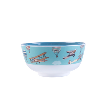 Small Illustrated Bowl - Planes and blue sky
