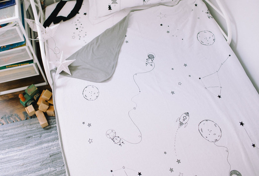 Toddler Blanket  - Outer Space (GREY)