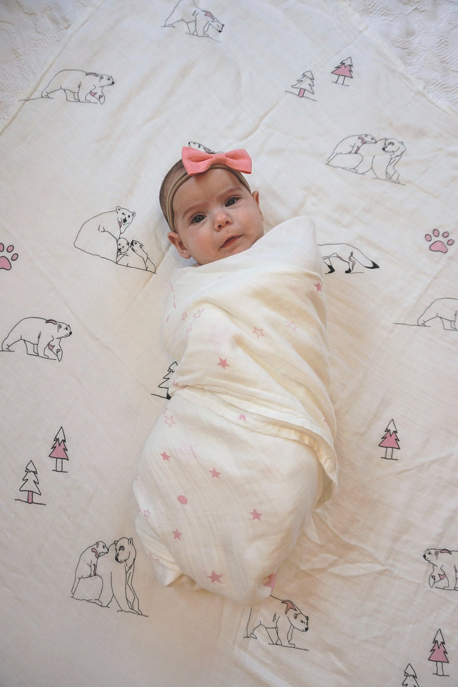 Bamboo Swaddle Blanket (PINK)