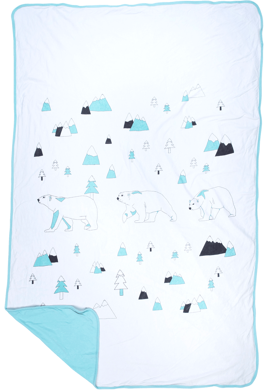 Toddler Blanket - North Pole (AQUA)