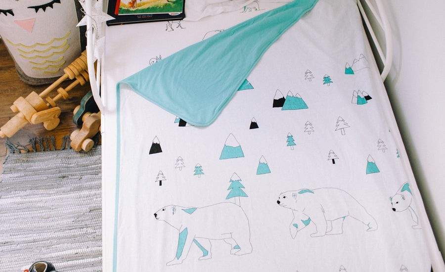 Bedding/Crib Set - North Pole (AQUA)