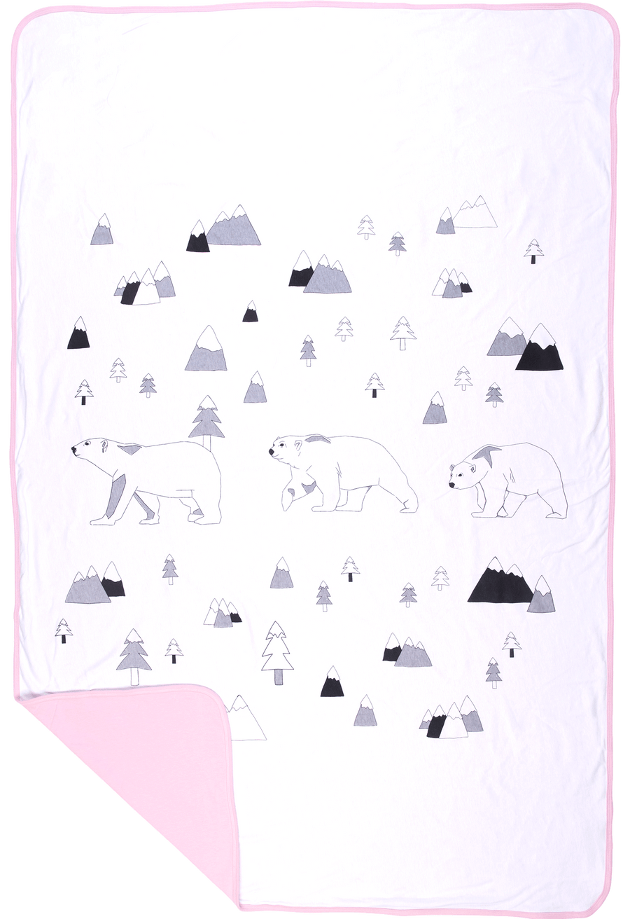 Toddler Blanket - North Pole (PINK)
