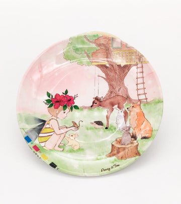 Illustrated Plate - Penny and Friends
