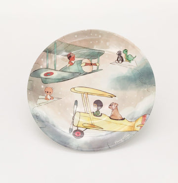 Illustrated Plate - TOM AND HENRY FLYING IN THE SKY