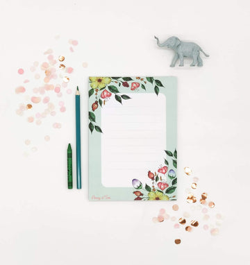 Large Memo Pad - Flowers