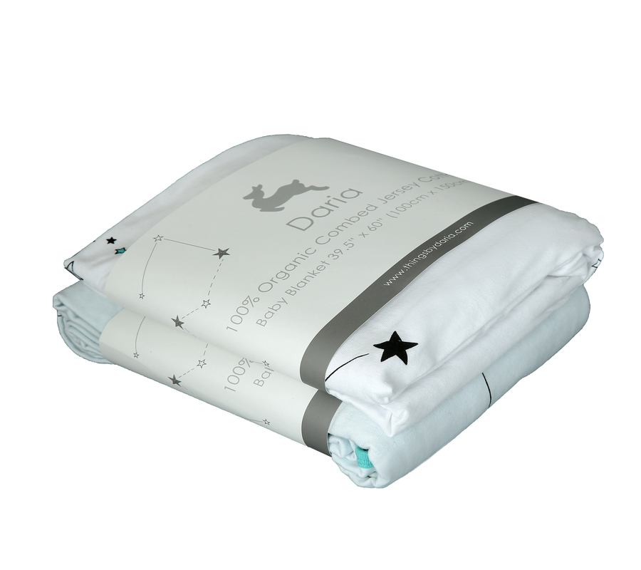 Bedding/Crib Set - Outer Space (AQUA)