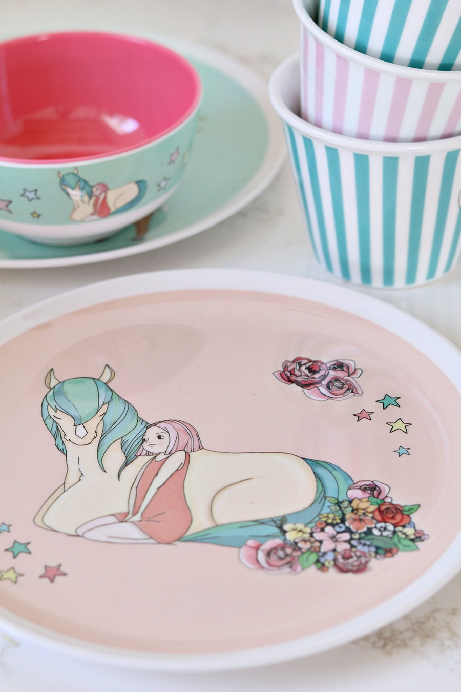 Illustrated Dinner Set - Penny and Willow
