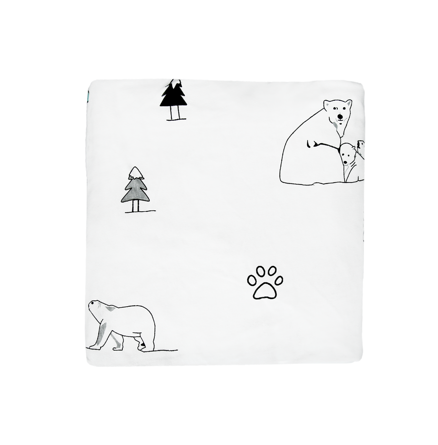 Fitted sheet - North Pole (B&W)