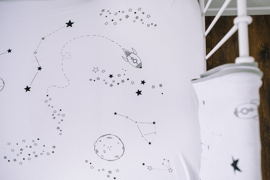 Bedding/Crib Set - Outer Space (GREY)