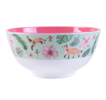 Large Illustrated Bowl - (GREEN)