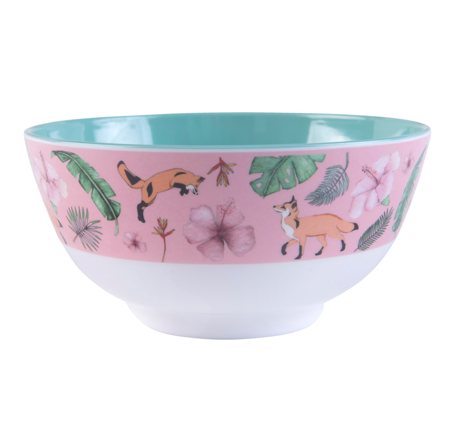 Large Illustrated Bowl - (PINK)