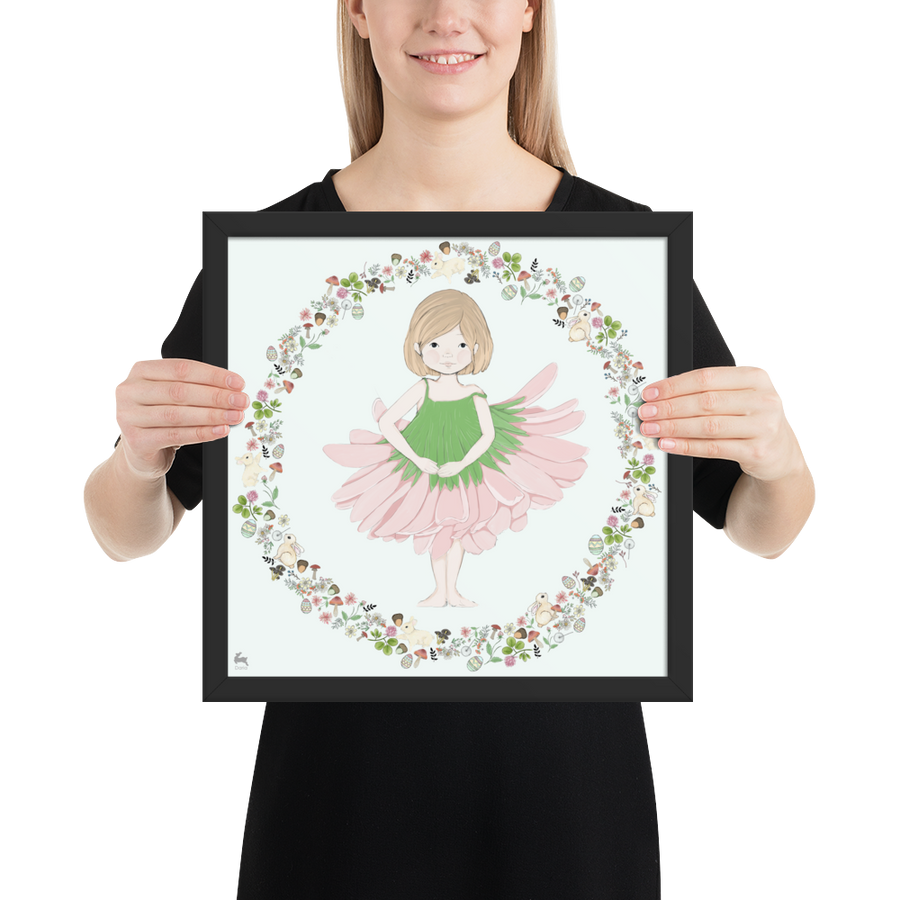 Penny in Ballet Dress - Framed Poster